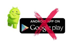 uninstall an app Android google play