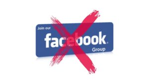 FB Groups join delete account